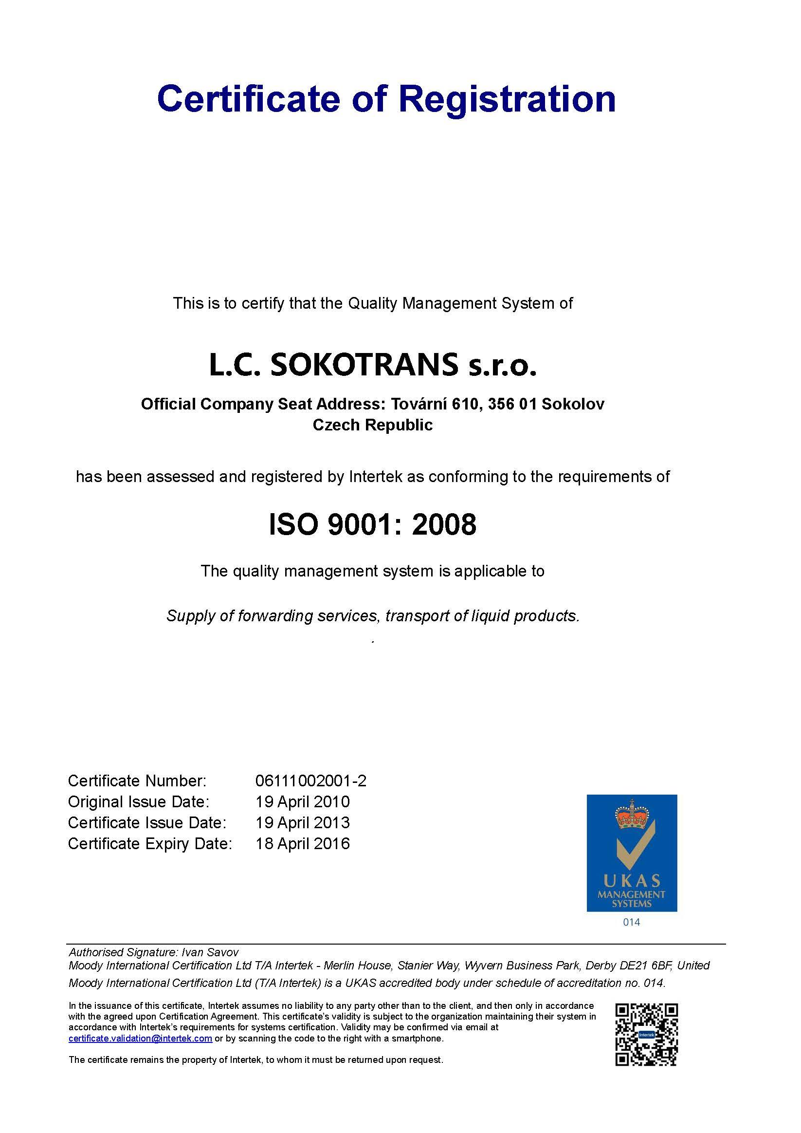 ISO Sokotrans